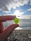 Bright Green Sea Glass Find