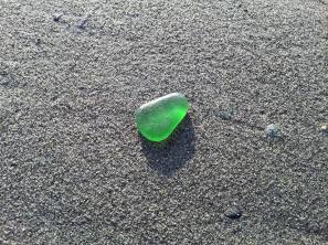 Green Jelly Bean Sea Glass